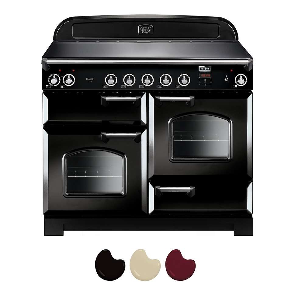 Falcon Classic 110cm Induction Range Cooker Black And Chrome CLA110EI5BL CH