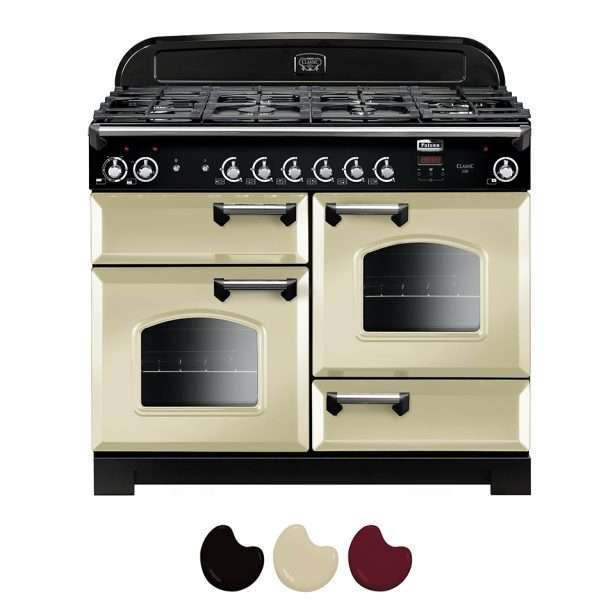 Falcon Classic 110cm Natural Gas Range Cooker Cream And Chrome CLA110NGFCR CH