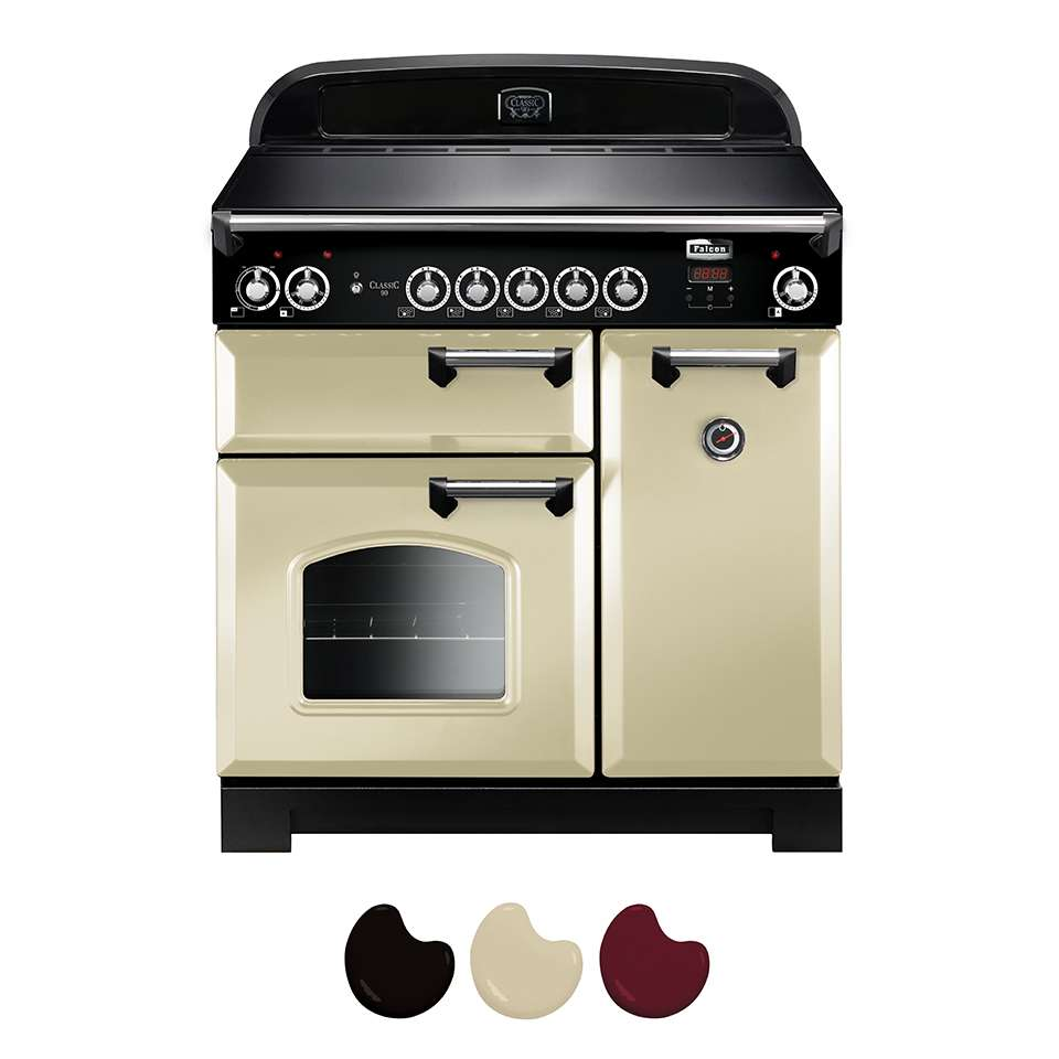 Falcon Classic 90cm Induction Range Cooker Cream And Chrome CLA90EI5CR CH