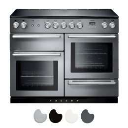 Falcon Nexus 110cm Induction Range Cooker Stainless Steel And Chrome NEX110EISS CH