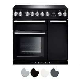 Falcon Nexus 90cm Induction Range Cooker Black And Chrome NEX90EIBL CH