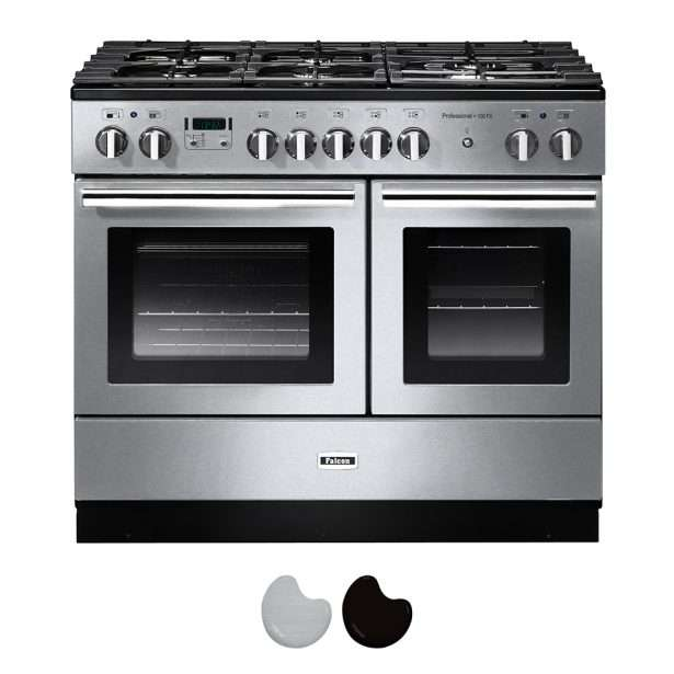 Falcon Professional 100cm Dual Fuel Range Cooker Stainless Steel And Chrome PROP100FXDFSS CH
