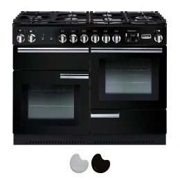 Falcon Professional 110cm Dual Fuel Range Cooker Black And Chrome PROP110DFFGB CH