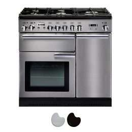 Falcon Professional 90cm Dual Fuel Range Cooker Stainless Steel And Chrome PROP90DFSS CH