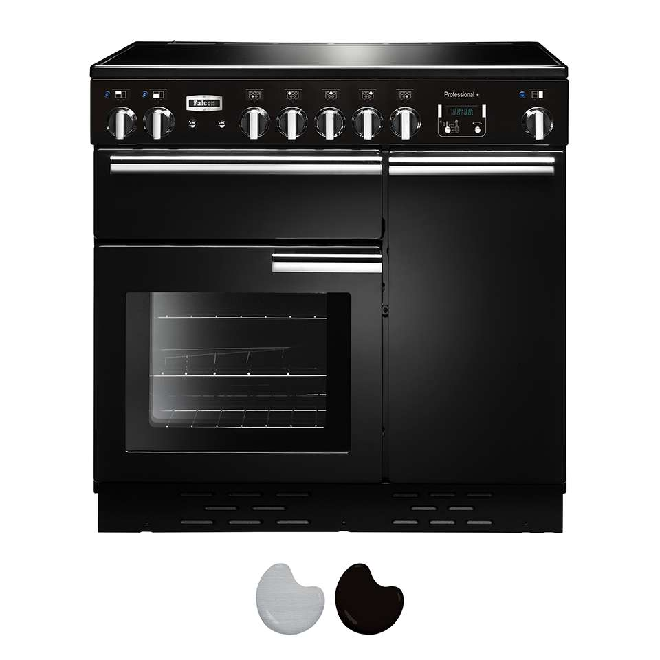 Falcon Professional 90cm Induction Range Cooker Black And Chrome PROP90EI5GB CH