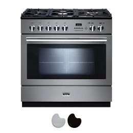 Falcon Professional FXP 90cm Dual Fuel Range Cooker Stainless Steel And Chrome PROP90FXPSS CH