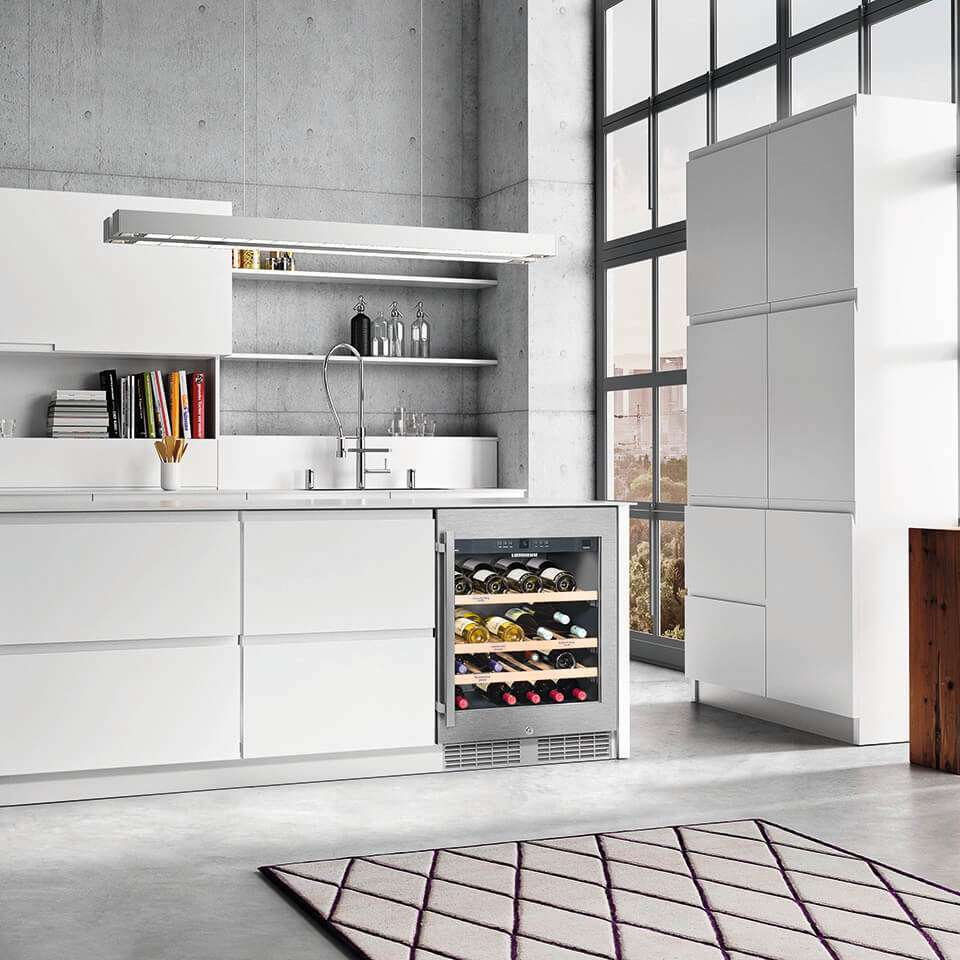Liebherr Built-In Underbench Single Zone Wine Cellar UWKes 1752 Lifestyle