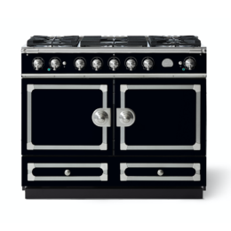 CORNUFÉ 110CM DUAL FUEL RANGE COOKER - SHINY BLACK