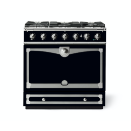 CORNUFÉ ALBERTINE 90CM DUAL FUEL RANGE COOKER - SHINY BLACK