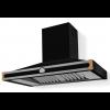 HS1MF21ET0 CornuFe 110 Rangehood Shiny Black Polished Brass Corners and Stainless Steel Frame