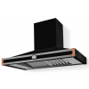 HS1MR21ET0 CornuFe 110 Rangehood Shiny Black Polished Copper Corners and Stainless Steel Frame