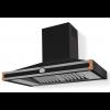 HS1NR21ET0 CornuFe 110 Rangehood Matt Black Polished Copper Corners and Stainless Steel Frame