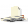 HS1VR21ET0 CornuFe 110 Rangehood Antique White Polished Copper Corners and Stainless Steel Frame