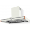 HS1WR21ET0 CornuFe 110 Rangehood Pure White Polished Copper Corners and Stainless Steel Frame