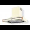 HS9VR21ET0 CornuFe Albertine 90 Rangehood Antique White Polished Copper Corners and Stainless Steel Frame
