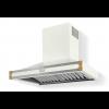 HS9WF21ET0 CornuFe Albertine 90 Rangehood Pure White Polished Brass Corners and Stainless Steel Frame